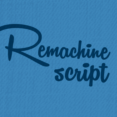 Image for Remachine Script Personal Use font