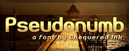 Pseudonumb font by Chequered Ink