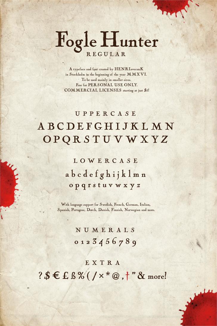 Image for Fogle Hunter font