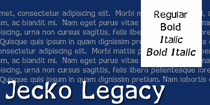 Image for Jecko Legacy font