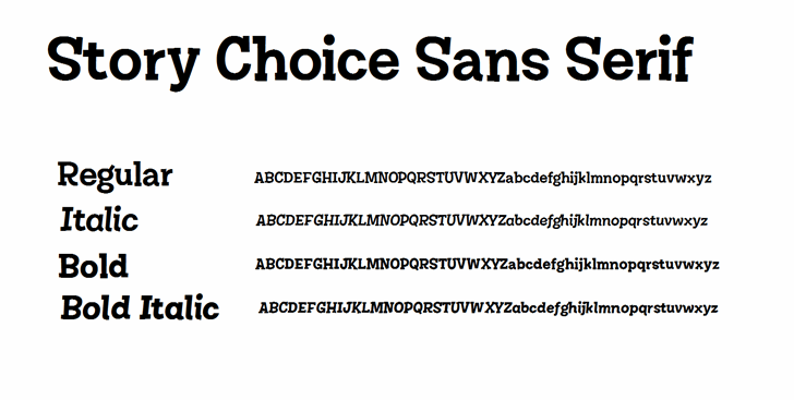 Image for Story Choice Sans Serif font