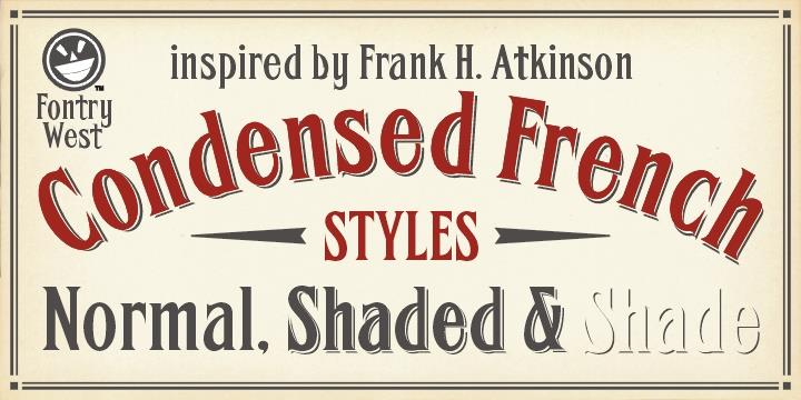 Image for FHA Condensed French  font