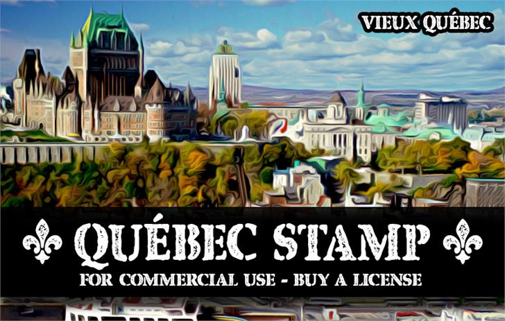 Image for CF Quebec Stamp font