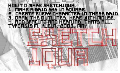 Image for Sketchiqua font