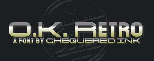 Image for O.K. Retro font