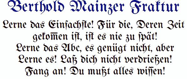 Image for Bertholdr Mainzer Fraktur font