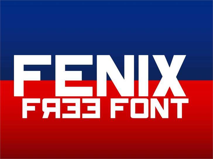 Fenix font by TFonts1