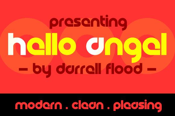 Hello Angel font by Darrell Flood