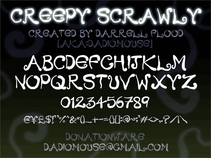 Image for Creepy Scrawly font