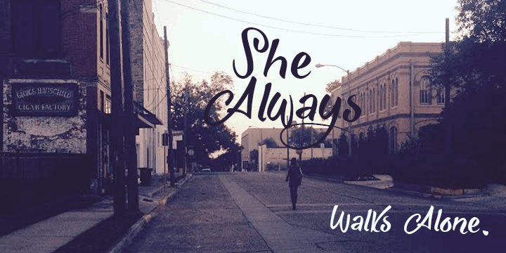 Image for She Always Walk Alone Demo font