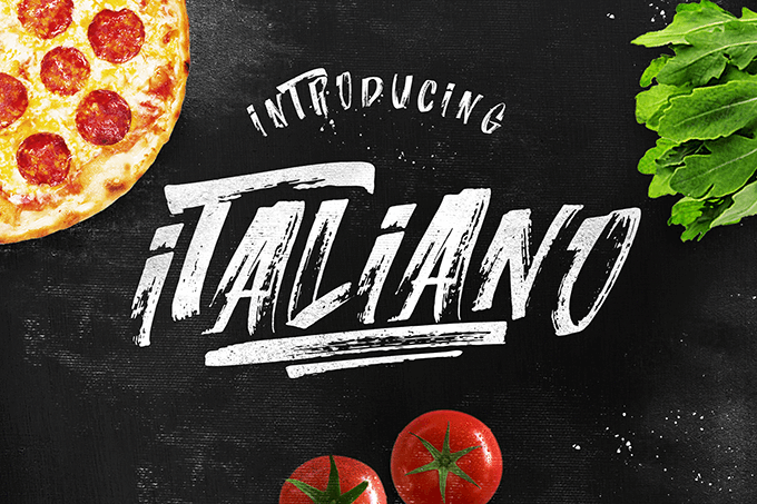 Italiano  font by LeoSupply.co