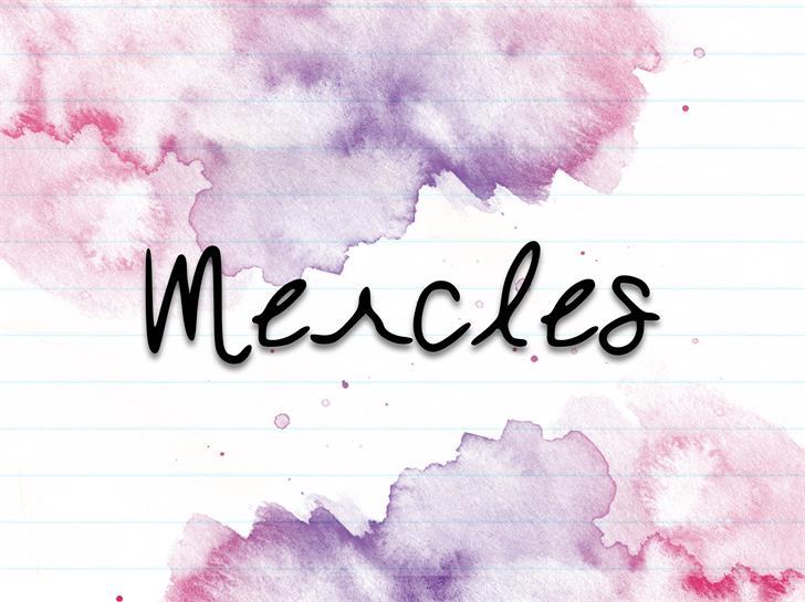 Mercles font by Freddiemerqwerty