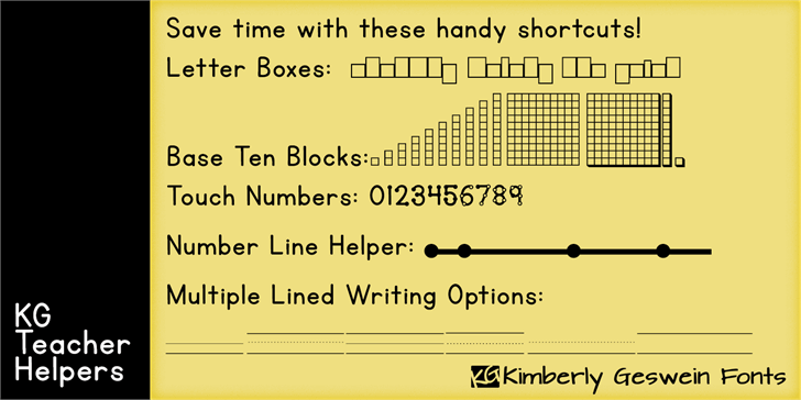 Image for KG Teacher Helpers font