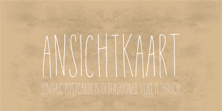 Image for Ansichtkaart DEMO font