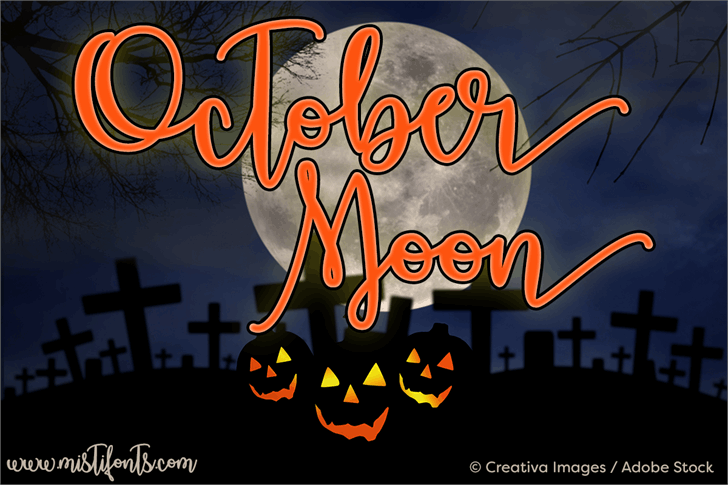 October Moon font by Misti's Fonts