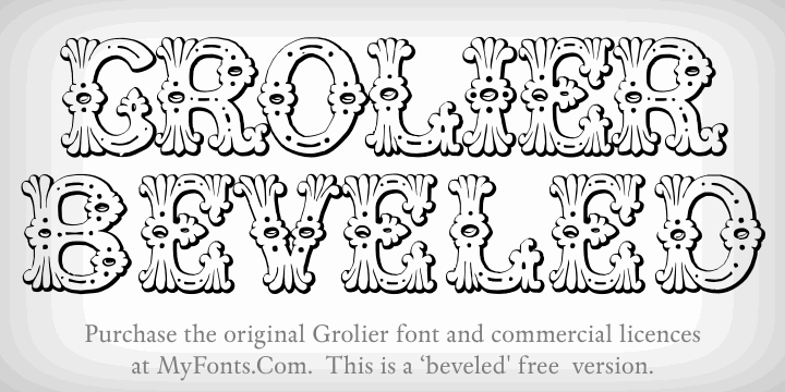 Grolier Beveled font by Intellecta Design