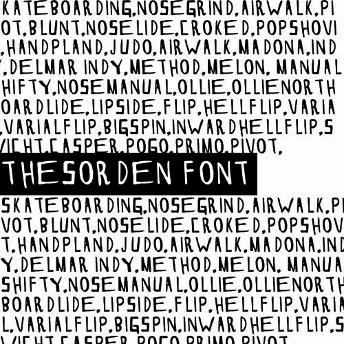 Image for THESORDEN font