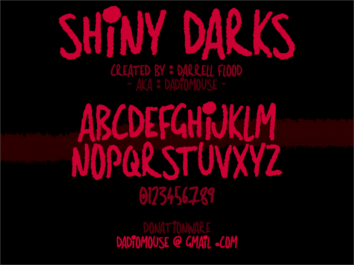 Image for Shiny Darks font