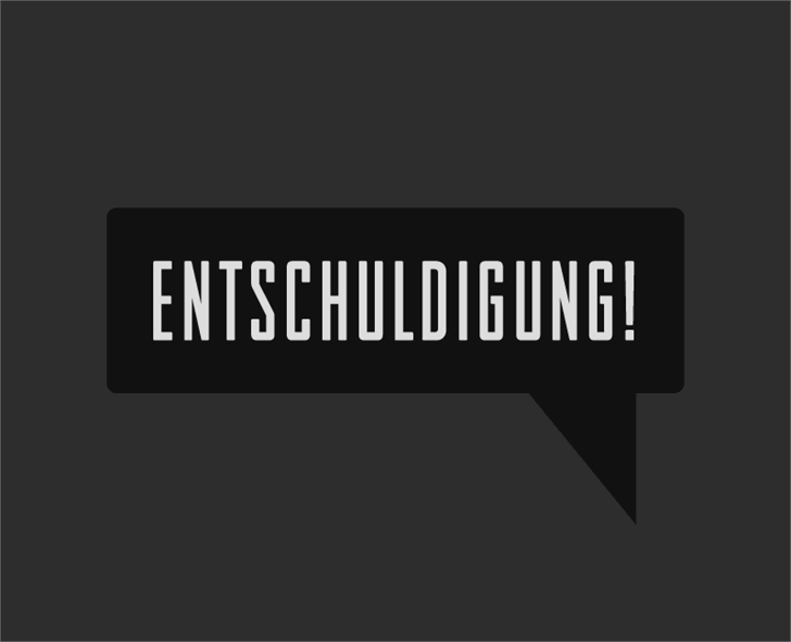 Entschuldigung font by HENRIavecunK