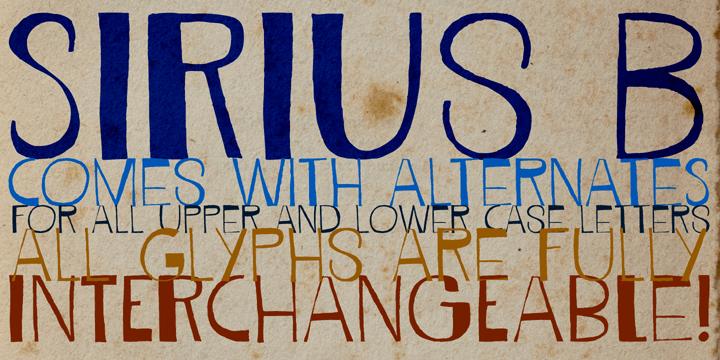 Image for DK Sirius B font