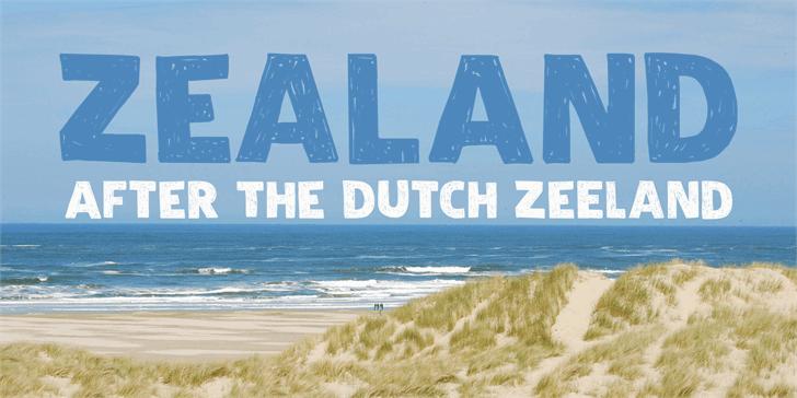 Image for DK Zealand font