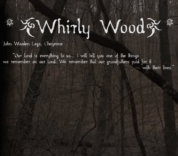 Image for Whirly Wood font