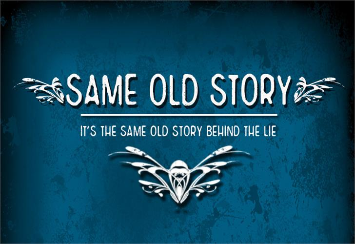 Image for CF Same Old Story font