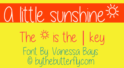Image for A little sunshine font