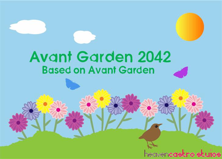 Avant Garden 2042 font by heaven castro