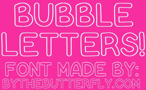 Bubble Letters font by ByTheButterfly