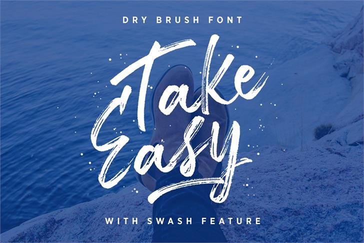 Take Easy DEMO font by Letterhend Studio