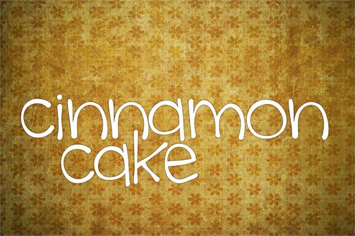Image for cinnamon cake font