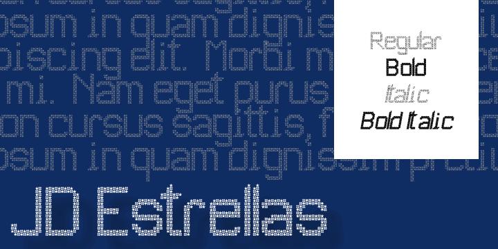 Image for JD Estrellas font