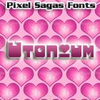 Utonium font by Pixel Sagas