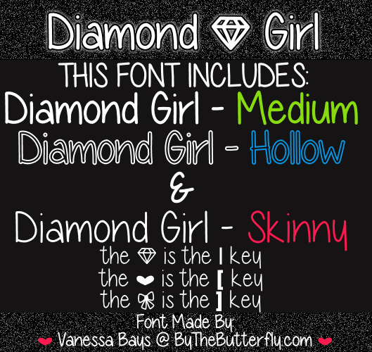 Image for Diamond Girl font