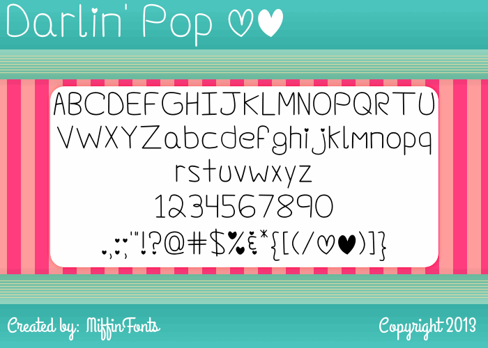 Darlin' Pop font by Misti's Fonts