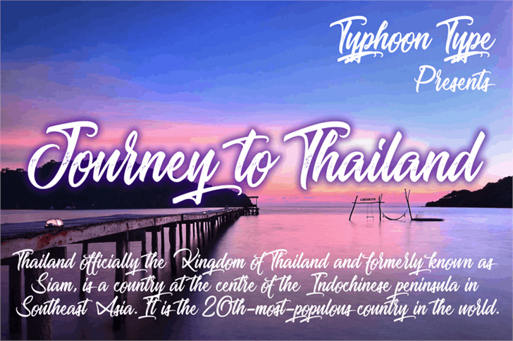Journey to Thailand font by Typhoon Type - Suthi Srisopha