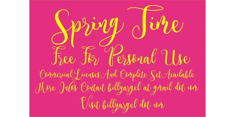 Thumbnail for Spring Time Personal Use