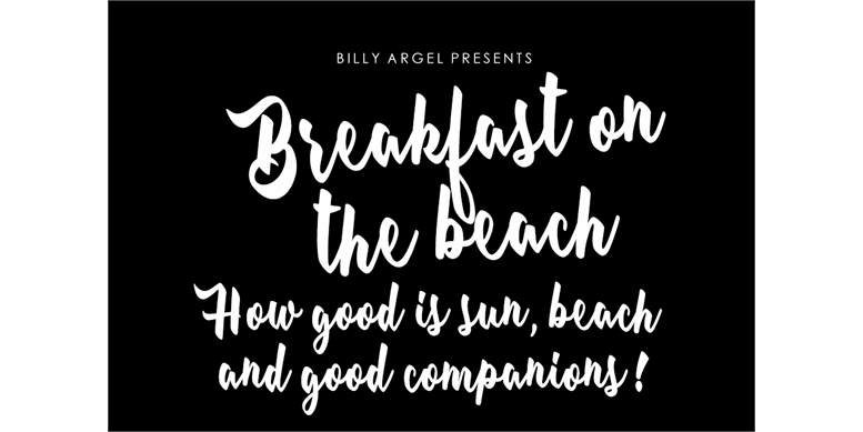 Thumbnail for Breakfast on the beach Personal