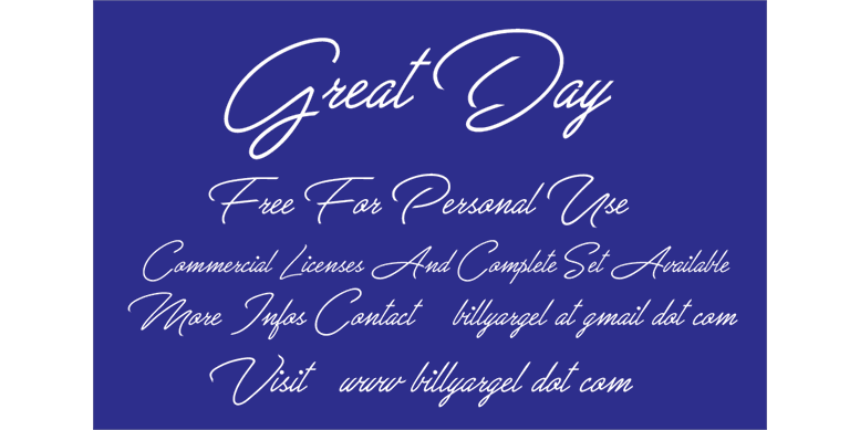 Thumbnail for Great Day Personal Use