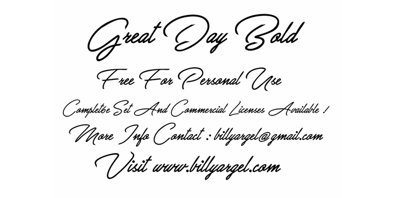 Thumbnail for Great Day Bold Personal Use