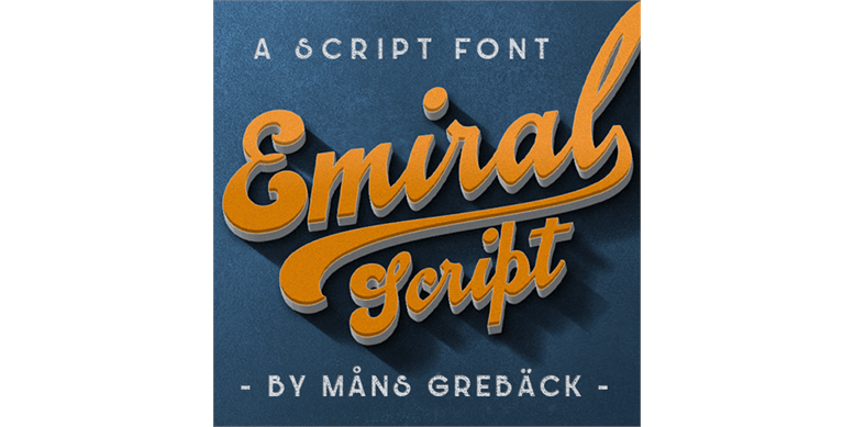 Thumbnail for Emiral Script PERSONAL USE