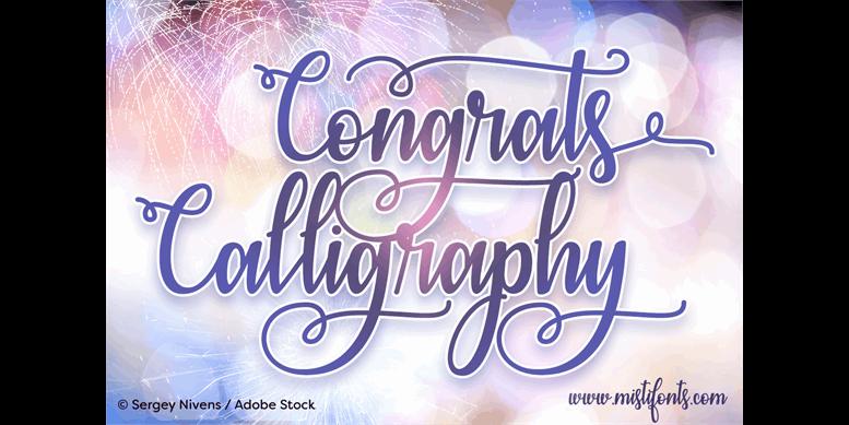 Thumbnail for Congrats Calligraphy