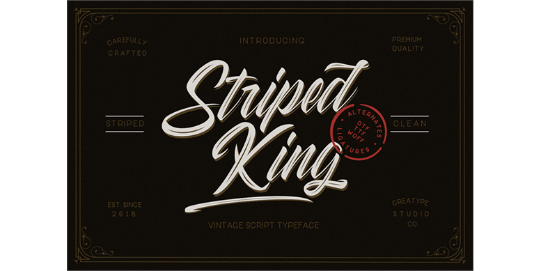 Thumbnail for Striped King Clean