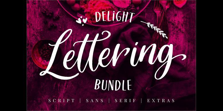 Thumbnail for Delight Lettering Script DEMO