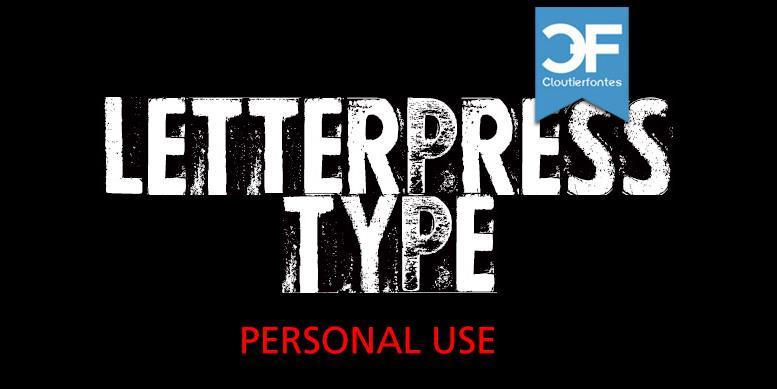 Thumbnail for CF Letterpress Type PERSONAL