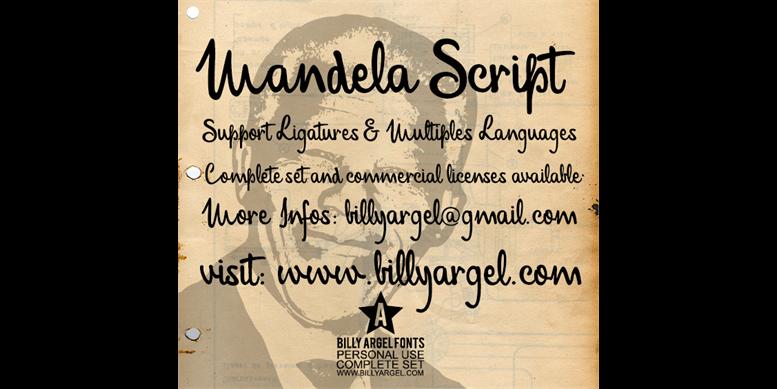 Thumbnail for Mandela Script Personal Use