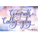 Thumbnail for Congrats Calligraphy