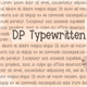 Thumbnail for DPTypewritten