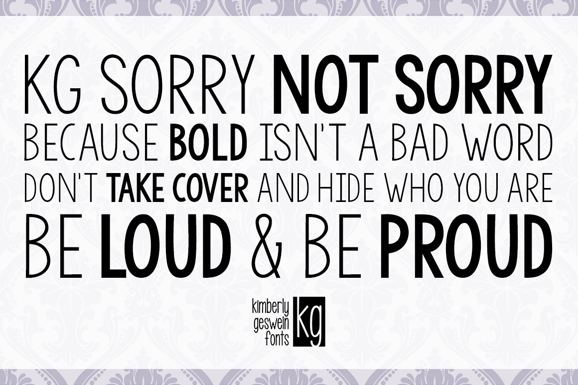 Image Gallery For Kg Sorry Not Sorry Font Fontspace